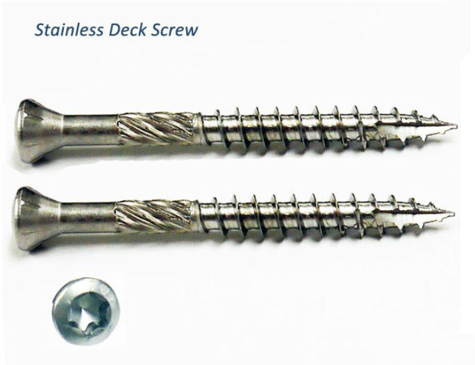 Flat Knurling White Stainless Steel Automotive Trim Deck Screws With Shoulder Coarse Thread