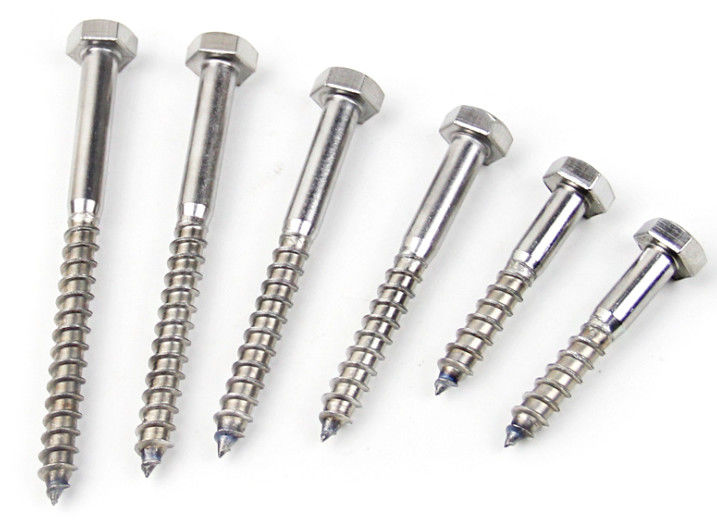 Hexagon Head Coach 316 Stainless Steel Lag Bolts Screw M10 In Construction Projects
