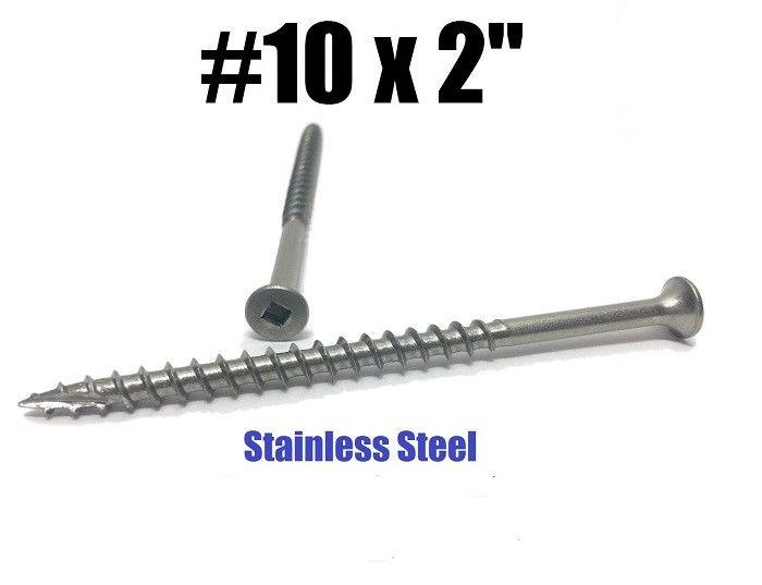 #10 X 2 Colored Stainless Steel Deck Screws Square Drive SUS201 SUS304 SUS316